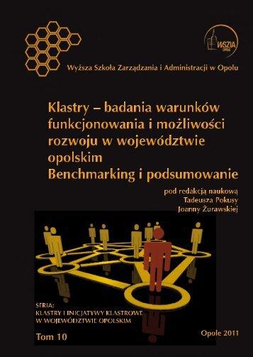 Klastry – BADANIA WARUNKÓW FUNKCJONOWANIA I ...