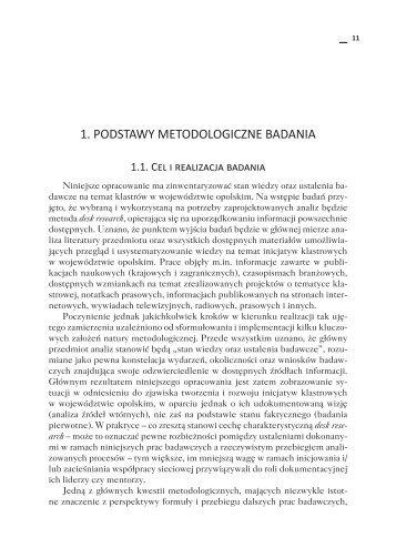 1. Podstawy metodologiczne Badania - Wyższa Szkoła Zarządzania ...