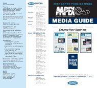 2012 AAPEX PUBLICATIONS MEDIA GUIDE NEW APPS - Babcox