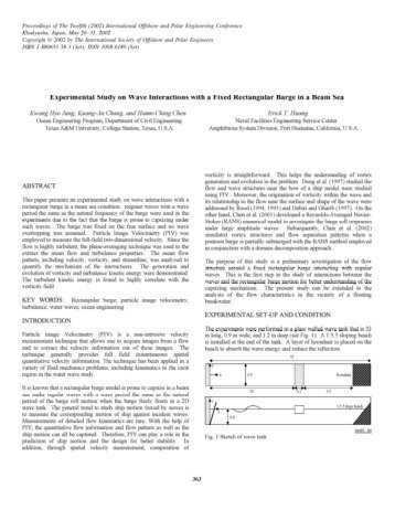 Experimental Study on Wave Interactions with a Fixed Rectangular ...