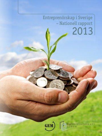 Entreprenörskap i Sverige – Nationell Rapport 2013 ...
