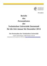 Tätigkeitsbericht 2012 - Personalrat