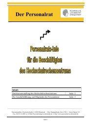Infoflyer für HRZ-Beschäftigte Februar 2012 - Personalrat