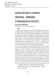 BEDEN EGiTiMi VE SPORDA - Spor Bilimleri Dergisi