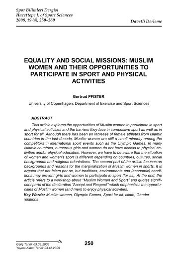 equality and social missions: muslim women and their opportunities ...
