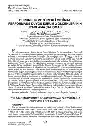 durumluk ve sürekli optimal performans duygu durum-2 ölçekleri'nin ...