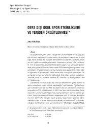 DERS - Spor Bilimleri Dergisi