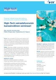Ohjelma - High-tech sairaalafoorumi - VTT