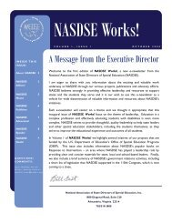 A Message from the Executive Director - Nasdse