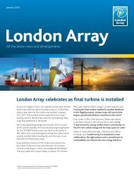 London Array celebrates as final turbine is installed