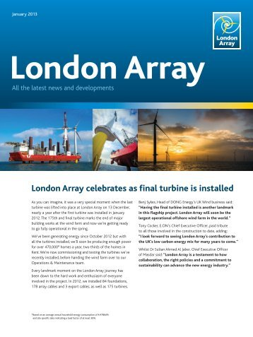 London Array celebrates as final turbine is installed