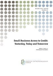 Small Business Access to Credit: Yesterday, Today and Tomorrow