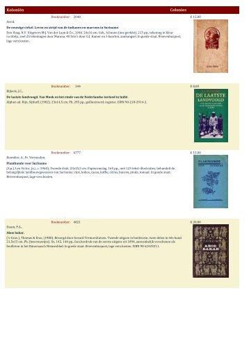 Koloniën Colonies - Antiquariaat Clio / Cliobook