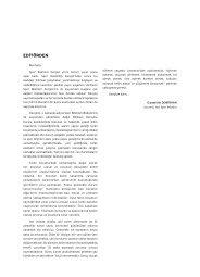 EDİTÖRDEN - Spor Bilimleri Dergisi