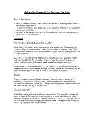 ? Adhesive capsulitis – Frozen shoulder - Wellness First