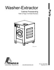 Mechanical Technical Assistance Manual for washers