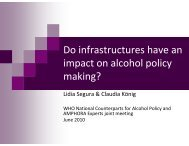 Infrastructure for alcohol policy - amphoraproject.net