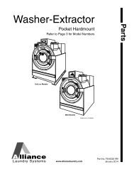 Service 226 30015 30020 30022 Washer Extractors Pros Parts