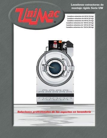 Lavadoras-extractoras de montaje rígido Serie UW