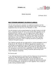 STAND A 41 PRESS RELEASE 26 March 2013 RAF TYPHOON - Lima