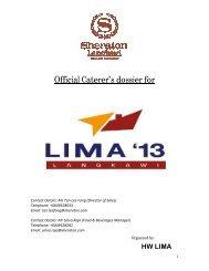Official Caterer's dossier for - LIMA'13 - Langkawi International ...