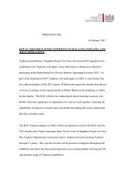 PRESS RELEASE 14 February 2013 ROYAL AIR FORCE SENDS ...