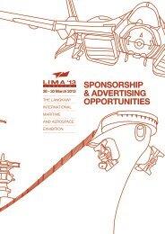 SPONSORSHIP & ADVERTISING OPPORTUNITIES - LIMA