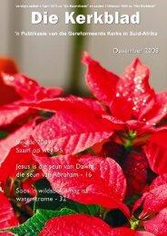 Desember 2008 - Die Gereformeerde Kerke in Suid-Afrika