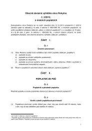 Vyhláška místní poplatky 2 2012 - Rokytno