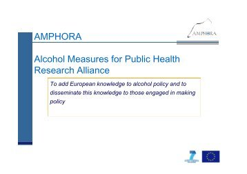 are effective in reducing alcohol-related harm. - amphoraproject.net