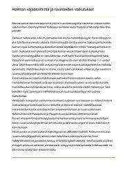 Ruuansulatus ongelmat, haiman vajaatoiminta - Shetland Oy