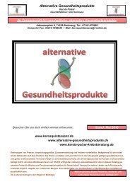 alternative Gesundheitsprodukte Onlineshop