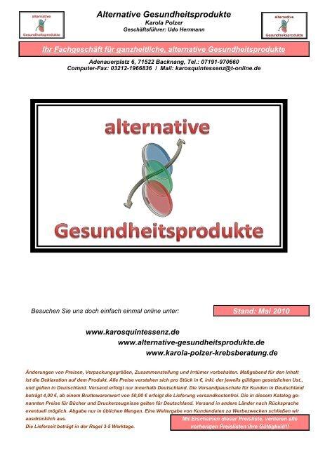 alternative Gesundheitsprodukte Onlineshop