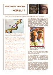 Miksi geenitutkimukset nyt - Koirilla - Shetland Oy