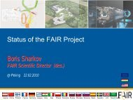 Status of the FAIR Project - RNC