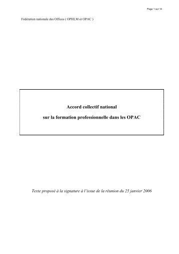 propositions pour un accord paritaire sur la formation ...