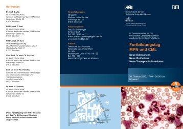 Fortbildungstag MPN und CML - III. Medizinische Klinik ...