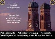 Patientenwille – Patientenverfügung: Rechtliche Grundlagen und ...