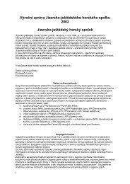 Výroční zpráva 2003 - Jizersko-ještědský horský spolek