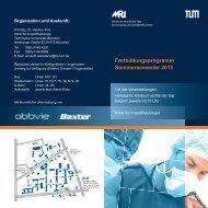 Flyer zum Fortbildungsprogramm Sommersemester 2013 - Klinik für ...
