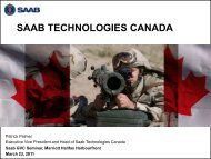SAAB Technologies Canada - Atlantic Alliance Aerospace Defence