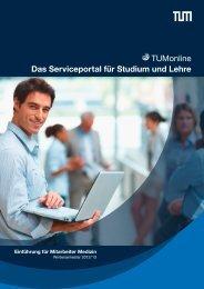 TUMonline Das Serviceportal für Studium und Lehre - TUM Fakultät ...