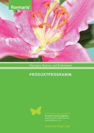 Produktprogramm (pdf) - Flormaris