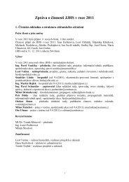 Zpráva o činnosti JJHS v roce 2011 - Jizersko-ještědský horský spolek