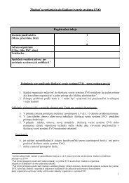 Žiadosť o registráciu do školiacej verzie systému EVO Registračné ...