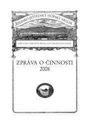 Výroční zpráva 2008 - Jizersko-ještědský horský spolek