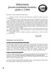 Zpravodaj JJHS č. 1/2013 - Jizersko-ještědský horský spolek