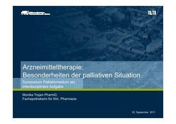 Besonderheiten der palliativen Situation - TUM