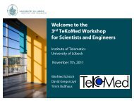 the 3rd TeKoMed Workshop for Scientists and Engineers