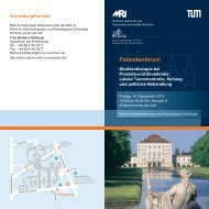 14. September 2012: Strahlentherapie bei Prostata- und Brustkrebs ...